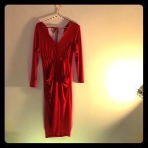 BCBGeneration // Deep V-Neck Drapey Pocket Dress
